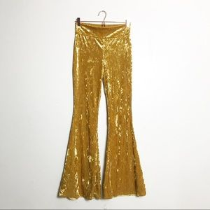 VINTAGE • velvet flare bell bottom pants